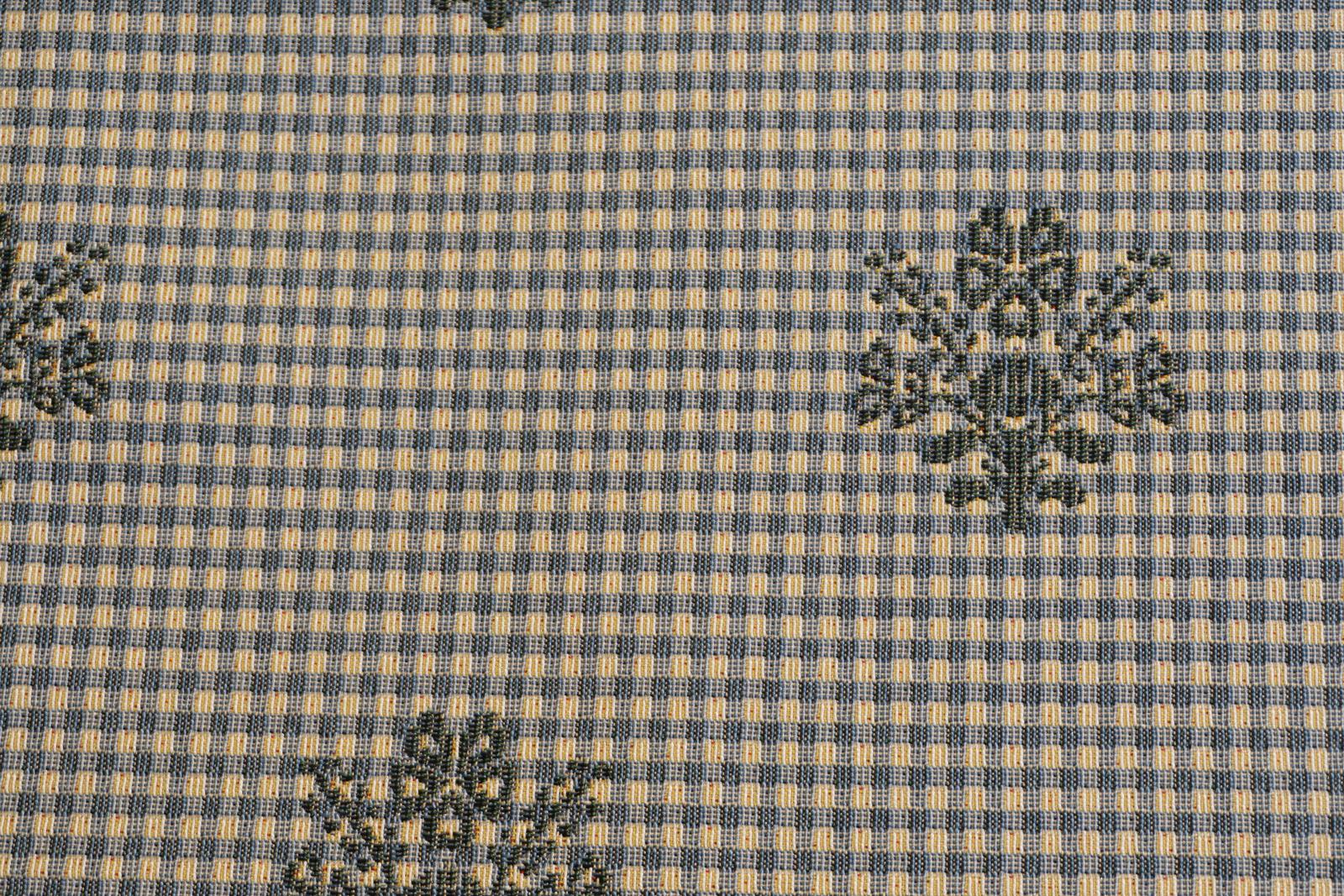 Polsterstoff Brixen Karo-Ornament