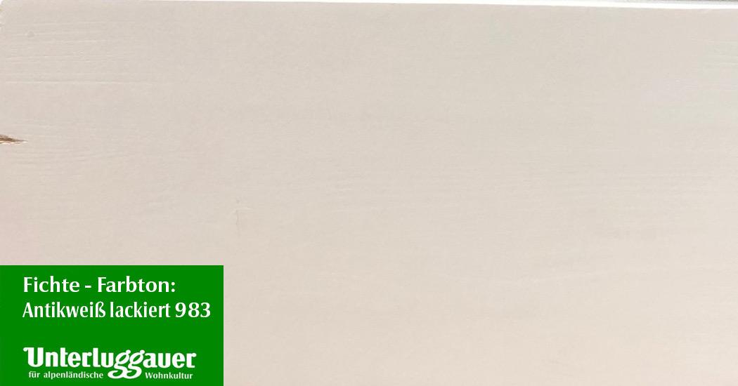 Antikweiß lackiert, Kanten angeschliffen 983