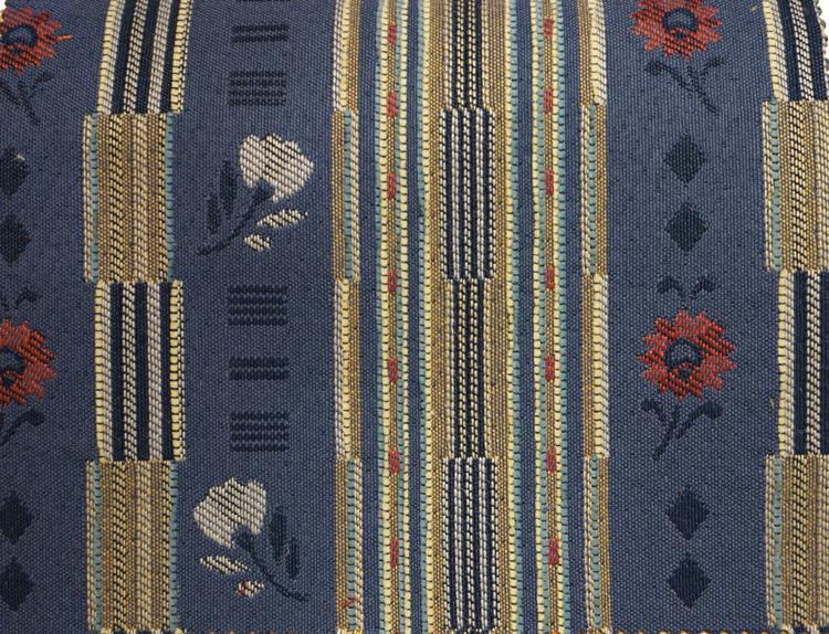 Blaue Streifen mit Blumen (2094)