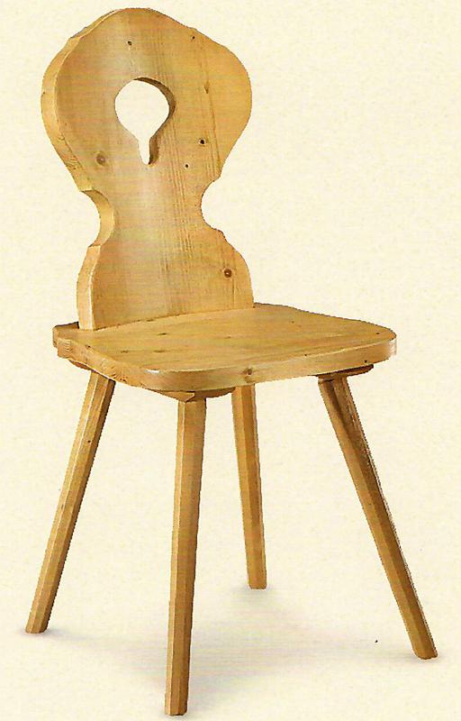 Stuhl mit Tropfen-Rücken